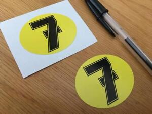 Barry Sheene Number 7 Stickers (Very Small Pair)