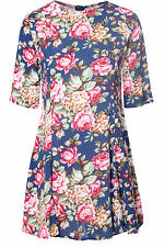 Thigh-Length Skater Casual Floral Dresses for Women
