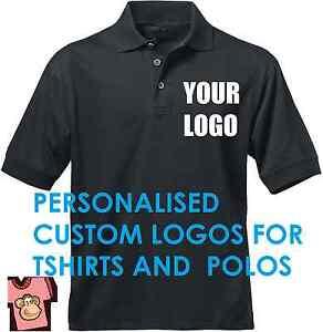 Custom DIY Iron on Transfer Logo for T-SHIRTS POLOS SHORTS APRONS Personalised