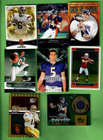 LOT OF 8 QUARTERBACK CARDS NFL FLACCO LEINART SANCHEZ GRIESE ELI MANNING