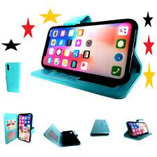 Für Apple iPhone X Tasche Handytasche Hülle Klapphülle Schutzhülle blau case