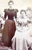 1870s Victorian Carte de Visite Card Photograph of Victorian Ladies