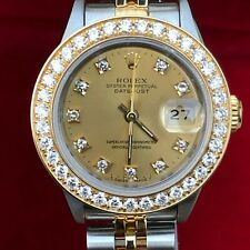 Rolex 26mm Datejust 69173 Steel Gold Dial 2 tone 1 ct Diamond Bezel 4 279383