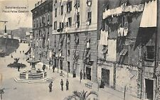 9586) SANPIERDARENA (GENOVA) PIAZZA FELICE CAVALLOTTI ANIMMATA VIAGGIATA 1910.