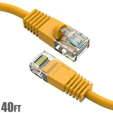 40Ft Cat5E Rj45 Network Lan Ethernet Patch Cable Utp Copper Wire 24Awg Yellow