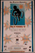 San Francisco Chronicle TOUR DE PENINSULA poster '97 Bicycle Greenbelt Alliance