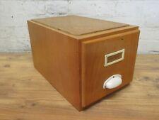 alter Karteikasten Holz Register Kasten Aufbewahrung 60er 70er Jahre Vintage