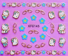 Hello kitty self-adhesive 3D Glitter Nail Sticker Decoration Decal XF6145