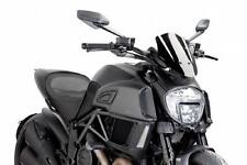 PUIG Naked Sport Windscreen - Black 7592N DUCATI Diavel Diavel Carbon Diavel etc
