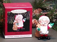 "1993 Hallmark Looney Tunes Collection Ornament ""Elmer Fudd"" Dressed as Santa"