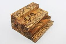 Exotic tiger stripe wood pen/small turning project blank 127mmx20mmx20mm