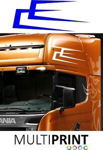2 X Lorry Stripes Vinyl Stickers Cab Scania Mercedes Volvo DAF MAN Renault LOR52