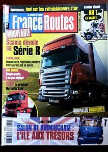 France Routes n°266; Salon de Birmingham/ Scania Série R/ Camion Vache