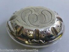 Gorgeous Antique German 800+ Silver Shell Shaped Snuff Box / Travel Soap Box