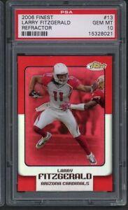 2006 Finest Refractor Larry Fitzgerald #13 PSA 10 Gem Mint Cardinals Pop 1! /399