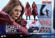 Hot Toys Scarlet Witch 1/6 Scale Figure Captain America Civil War Olsen New