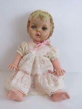 """Vintage EEGEE Drink and Wet Sleepy Eye Jointed Blonde Hair Girl Baby Doll 18"""""""