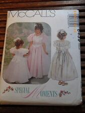 6439 McCalls Special Moments Pattern Childrens Girl Dress Size CJ 10 12 14 Uncut