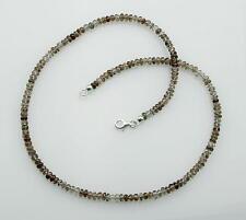 Zirkon-Kette - Natur Zirkon Rondelle multicolour Halskette für Damen  44 cm