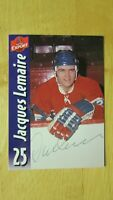 JACQUES LEMAIRE    Montreal Canadiens  Molson Export # 25  SIGNED AUTO 1967-1979
