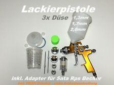 Rps Becher Lackierpistolenset im Koffer PROFI 2 x HVLP+Adapter für Sata Rps
