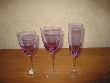 GUY DEGRENNE *NEW* BRAGANCE VIOLET Set 3 verres Glasses