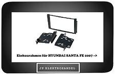 Einbaurahmen für  HYUNDAI SANTA FE 2007 -->    Radioblende 2DIN