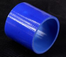 """76mm 3"""" Silicone Hose Joiner Coupler Straight Connector Rubber Tube Pipe Blue"""