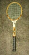 Vintage Wilson Tony Trabert Autograph Wood Tennis Rack- Mint Cond