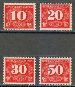 Poland OCCUPATION STAMPS Post Osten WW2 1940 MNH Mi 1-4 Sc NL1-NL4 RURAL **