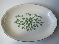 Lenox Christmas Holiday Oval Serving Plate With Box