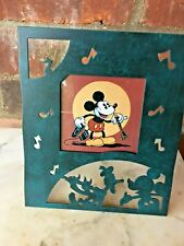 """Vintage Mickey Mouse Donald Duck Charpente Picture Frame Metal New in Box 7"""""""