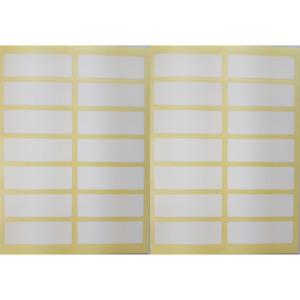 280 Etiketten 37 x 12mm weiß selbstklebend Aufkleber Klebeetiketten Tiefkühl