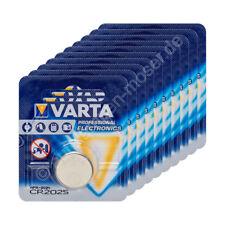 10x Original Varta CR2025 Blister Lithium Knopfzelle Batterie 3V / 165mAh, 10 Bl