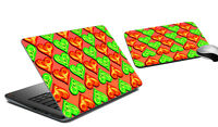 """Hearts Laptop Skin & Mousepad 15""""-10"""" Laptop Cover Protector Sticker"""
