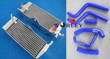 For HONDA CR250R CR250 CR 250R 1988 1989 88 89 Aluminum Radiator & Hose BLUE