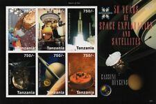 NASA/ESA CASSINI-Huygens Spacecraft Saturn Probe Space Stamp Sheet 2009 Tanzania