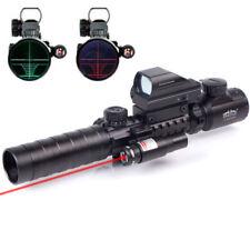 3-9X32EG Illuminated Rifle Scope 4 Reticle HD Holographic Sight&Red Laser Sight