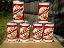 6 PACK OF ARROW BY AMERICAN STRAIGHT STEEL OLD BEER CAN