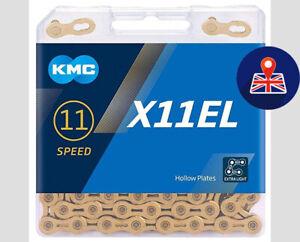KMC X11EL Gold 11 Speed Chain Shimano Sram  Campagnolo - 118 Links.