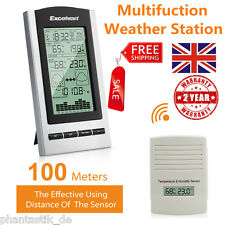 Wireless Weather Station Forecast  Temperature Humidity Barometer Outdoor Sensor