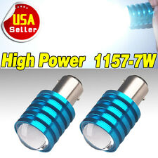 2x Super White 1157 BAY15D High Power 7W Projector Tail Brake LED Light Bulb 12V