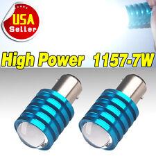 2x Super White 1157 BAY15D High Power 7W Projector Tail Brake LED Light Bulb 12V