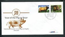 Ned. Antillen FDC E391 - E 391, year of the pig, blanco met open klep