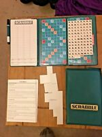 VINTAGE MATTEL POCKET TRAVEL SCRABBLE GAME HARD CASE WITH MAGNETIC TILES