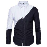 Luxury Dress Shirts Formal Floral Slim Fit Fashion Casual Long Sleeve Shirt