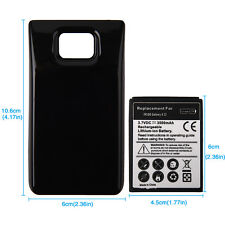 3500mah Battery Extended Thick + Back Cover For Samsung Galaxy S2 SII i9100