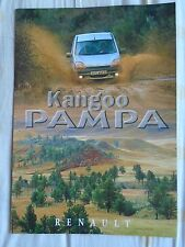RENAULT KANGOO PAMPA brochure années 1990 texte néerlandais