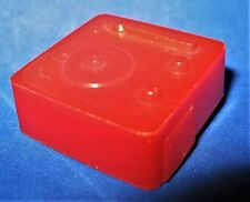 Vintage Dollhouse Miniature Tabletop Desk Record Player Red Plastic Hong Kong