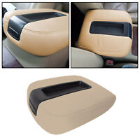 Beige Console Lid Armrest Cover Synthetic Leather For 07-13 Chevy Tahoe,Suburban